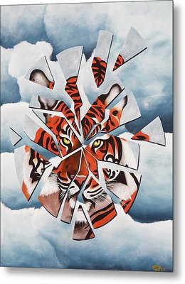 Once I Was A Tiger Metal Print by Poul Costinsky
