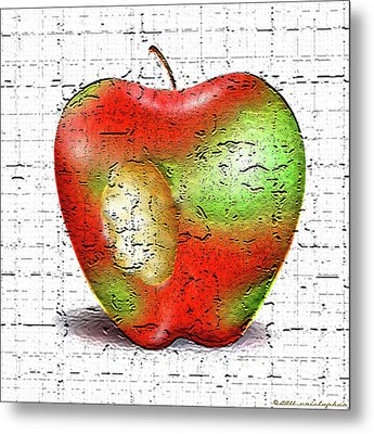 One Bad Apple Metal Print by Cristophers Dream Artistry