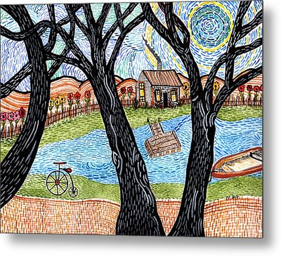 One Country Home Metal Print by Connie Valasco