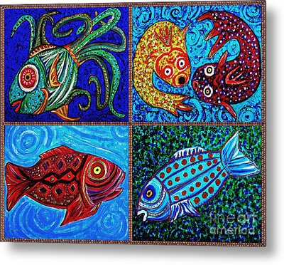 One Fish Two Fish Metal Print