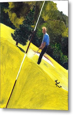 One Putt Away Metal Print by David Poyant