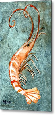 One Shrimp Metal Print by Elaine Hodges
