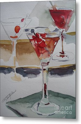 Metal Print featuring the painting One Too Many by Sandra Strohschein
