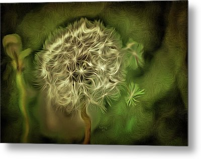 Metal Print featuring the mixed media One Woman's Wish by Trish Tritz