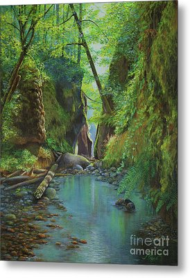 Oneonta Gorge Metal Print by Jeanette French