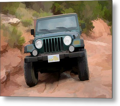 Only Jeeps Here Metal Print by Gary Baird