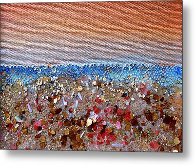 Opal Beach Metal Print by Regina Valluzzi