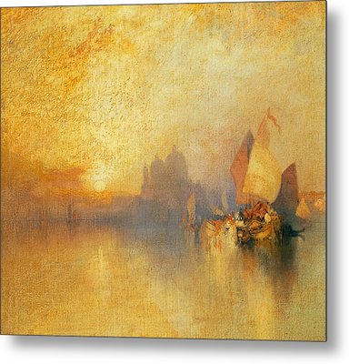 Opalescent Venice Metal Print by Thomas Moran