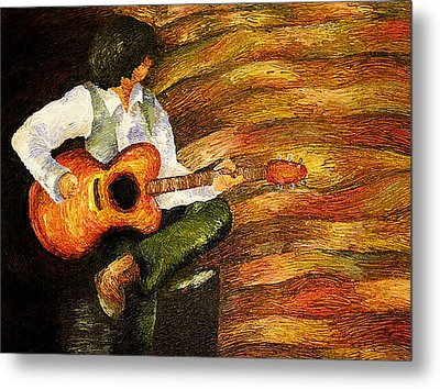 Metal Print featuring the painting Open Mic Night by Meagan  Visser