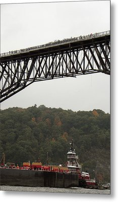 Opening Day Of  Walkway Over The Hudson 2009 Metal Print by Joseph Duba