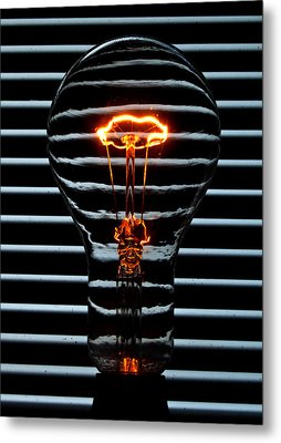 Orange Bulb Metal Print by Rob Hawkins