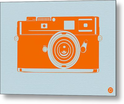 Orange Camera Metal Print by Naxart Studio