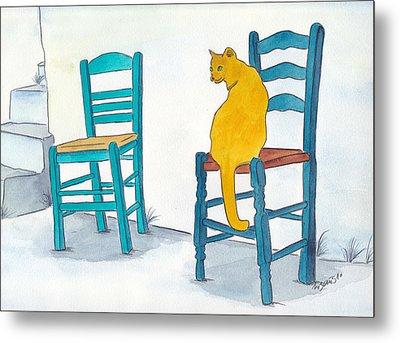 Orange Cat Metal Print by Michaela Bautz