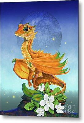 Orange Dragon Metal Print by Stanley Morrison