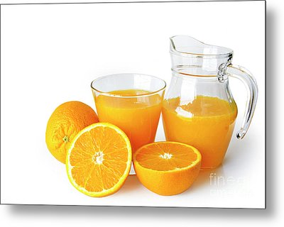 Orange Juice Metal Print by Carlos Caetano