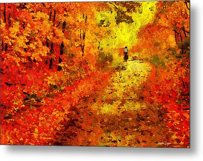 Orange Path - Da Metal Print by Leonardo Digenio