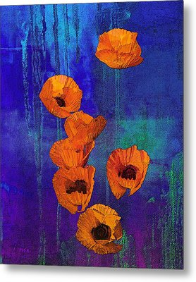 Orange Poppies Metal Print by I'ina Van Lawick