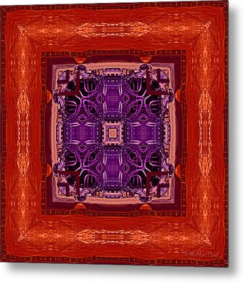 Metal Print featuring the photograph Orange Red And Purple Kaleidoscope by Barbara MacPhail