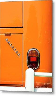 Orange Splitty Metal Print