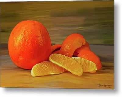Oranges 01 Metal Print by Wally Hampton