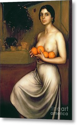 Oranges And Lemons Metal Print by Julio Romero de Torres