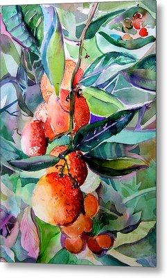 Oranges Metal Print by Mindy Newman
