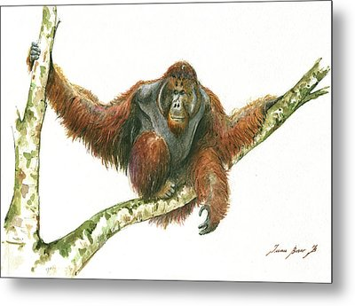 Orangutang Metal Print by Juan Bosco