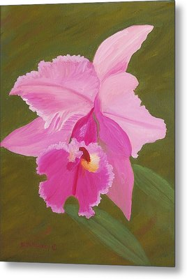 Orchid Metal Print by Ruth  Housley
