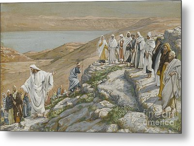 Ordaining Of The Twelve Apostles Metal Print by Tissot