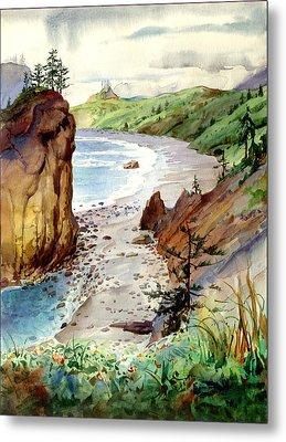 Oregon Coast #3 Metal Print by John Norman Stewart