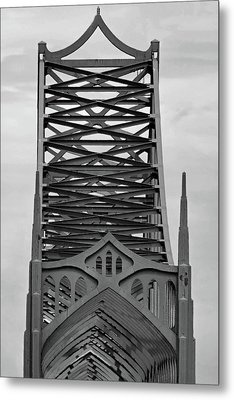 Oregon Coast Coos Bay Brdige Metal Print