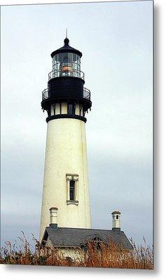 Oregon Coast Lighthouses - Yaquina Head Lighthouse Metal Print by Christine Till