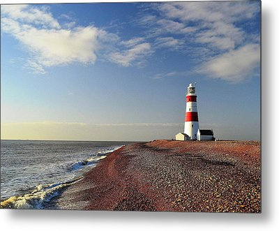 Orford Ness Lighthouse Metal Print by Photo by Andrew Boxall