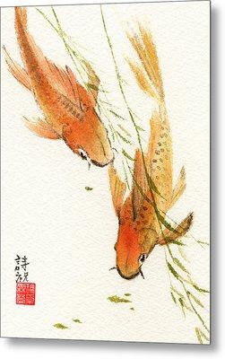 Oriental Koi Metal Print