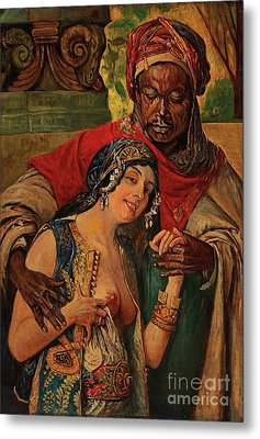 Orientalisches Paar  Metal Print by Pg Reproductions
