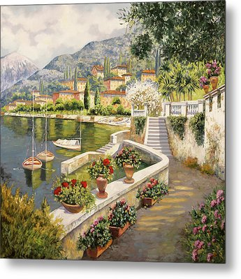 ormeggio a Bellagio Metal Print by Guido Borelli
