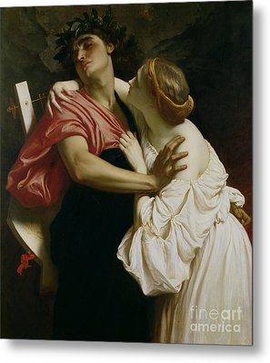 Orpheus And Euridyce Metal Print by Frederic Leighton