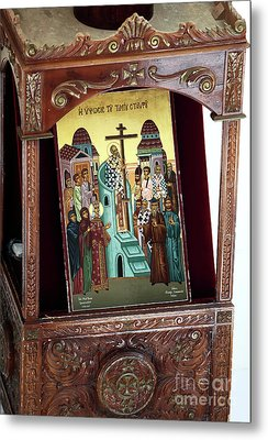 Orthodox Icon Metal Print by John Rizzuto