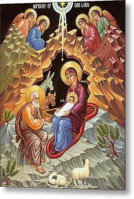 Orthodox Nativity Scene Metal Print by Munir Alawi