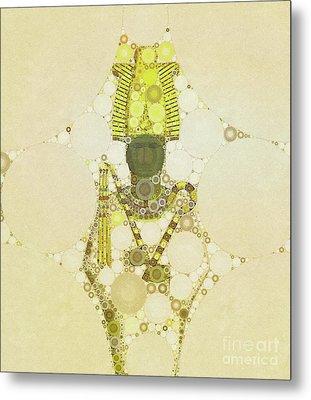 Osiris, God Of Egypt By Mb Metal Print