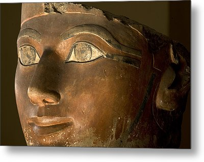 Osiris Statue Face Of Hatshepsut Metal Print by Kenneth Garrett