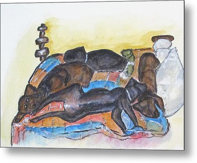 Our Bed Now Metal Print