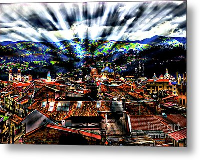 Our City In The Andes Metal Print by Al Bourassa