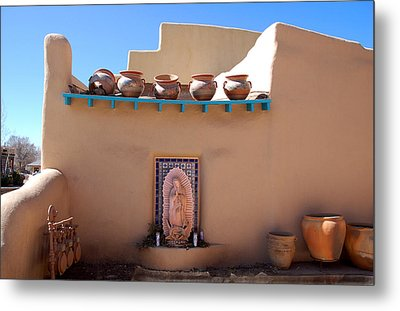 Our Lady Of Guadalupe Shrine Taos Metal Print by Kathleen Stephens