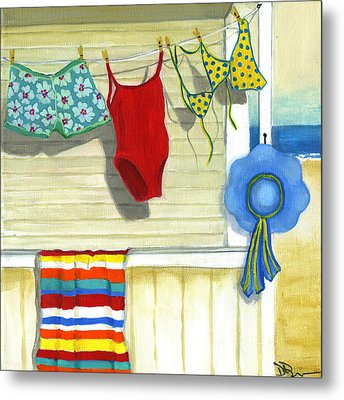 Out To Dry Metal Print by Debbie Brown