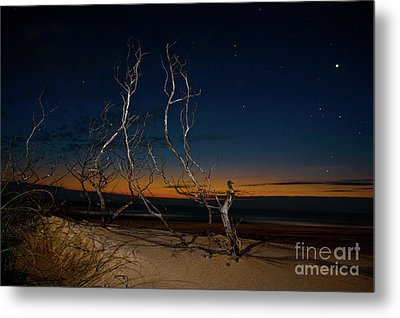 Outer Banks Sunrise With Venus And Scorpio Metal Print