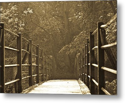 Over The Bridge Metal Print by Brian Roscorla