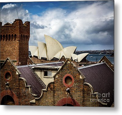 Metal Print featuring the photograph Over The Roof Tops by Perry Webster