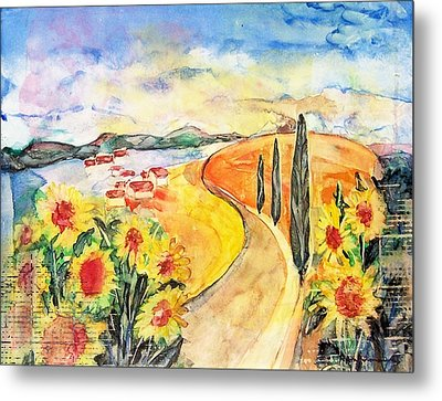 Over The Tuscan Hills Metal Print by Regina Ammerman
