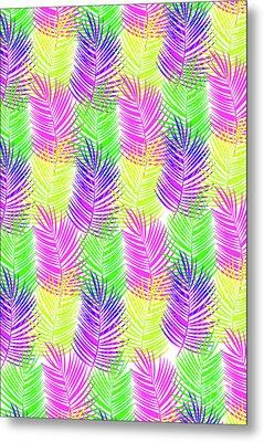 Overlaid Leaves Metal Print